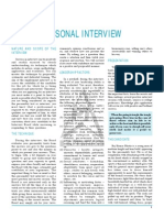 Personal Interview