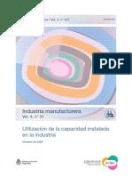 Capacidad industrial en Argentina, Octubre 2020, INDEC