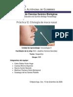Práctica No. 12. Citología de moco nasal