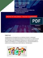 PROYECTO NACIONAL Y NUEV CIUDADANIA ACTIVIDAD III