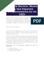 Áreas De Servicio Mucho Más Que Espacios Complementarios En Un CEDI.docx
