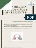 LA ENTREVISTA CON LOS NIÑOS Y ADOLESCENTES