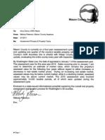 Mason County Assessor Letter