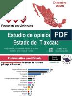 Estudio de opinión en el estado de Tlaxcala (diciembre 2020)