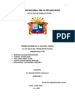 informe de legislación