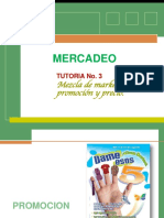 TUTORIA  No.3  Mezcla de marketing (promoción y precio)