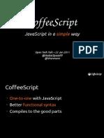 CoffeeScript - JavaScript in a simple way