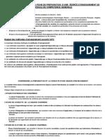 NOTES EXPLICATIVES DE LA FICHE DE PREPARATION D'UNE SEANCE D'ENSEIGNEMENT (corrigé)