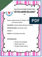 DESARROLLO DE AUTOCONTROL Y AUTORREGULACIÓN EN LA PRIMERA INFANCIA