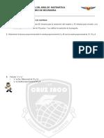 EXAMEN FINAL DE MATEMATICA (R. PROBLEMAS DE CANTIDAD) 3RO