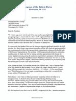 Letter to Trump on Omnibus Veto
