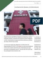 Empresas educativas y de transporte emitirán comprobantes electrónicos desde enero 2020 _ Noticias _ Agencia Peruana de Noticias Andina