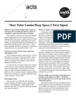 NASA Facts Mars Polar Lander Deep Space 2 First Signal