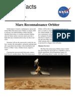 NASA Facts Mars Reconnaissance Orbiter