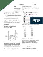 Eletronics Lab Report - BJT