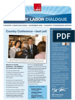 Country Labor Dialogue - Conference 2008