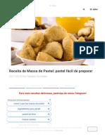 Receita de Massa de Pastel_ pastel fácil de preparar