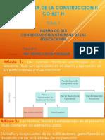 Tecnologia de La Construccion II - Tema 1 - Alcances y Contenidos Ing. Cachay