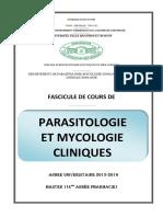 COURS DE PARASITOLOGIE ET MYCOLOGIE CLINIQUES