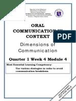 ORAL COMMUNICATION_Q1_W4_Mod4_Dimentions of Communication