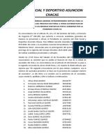 ACTA DE ASAMBLEA POSTERGACION PROCESO ELECTORAL