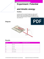 Potential and Kinetic Energy - Experiment