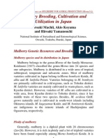 Mulberry Breeding, Cultivation and Utilization in Japan