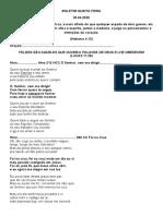 BOLETIM QUINTA FEIRA - 30.04.2020