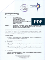 Philippine Ports Authority Administrative Order No. 11 -2020
