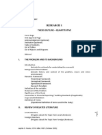 RTU Research 1 Thesis Outline for Quantitative Research