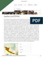 Aquifers and PGWM