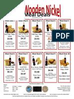 Wooden Nickel Meal Deals Menu - Updated 2.7.2011