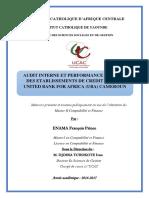 Memoire Audit Interne et Performance Globale des établissements de crédits