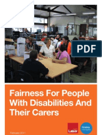 Fairness for People with Disabilities and their Carers