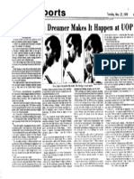 Liskevych the Dreamer Makes it Happen at UOP