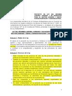Proyecto de Ley de Nuevo Régimen de La Agroexportación Revisado Por Los Asesores de La Comisión Con Aportes Al 16.12.2020