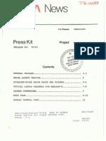 Marisat-B Press Kit
