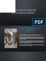 estimation of mosaic tiles for flooring