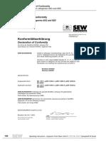 SEW GEAR motors (incl W) Atex declarations