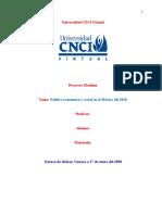 Proyecto Modular Política Económica y Social en El México Del 2020