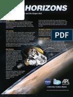 New Horizons Fact Sheet 2006