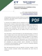 Desafíos del Docente Universitario en la Enseñanza Virtual durante el ConfinamientoNTE eL CONFINAMIENTO