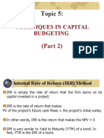 BWFF2043_Topic 5_Techniques in Capital Budgeting_Part 2.ppt