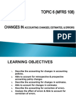 Topic 6 MFRS 108 Changes in Acc Policies, Estimates,  Errors.ppt