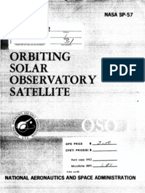 Orbiting Solar Observatory Satellite OSO-1 the Project Summary ... on
