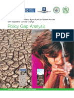 2009 GoP Policy gap anal Agric water policies wrt climate change