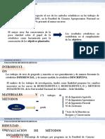 EVALUACION DE METODOS ESTADISTICOS