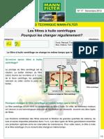 Info Technique Serie No 17-Filtre centrifuges