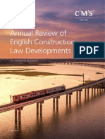 Annual Review of English Construction Law Developments