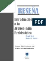 Reseña Introduccion a la Arqueologia Prehistorica (1).pdf